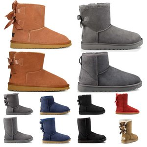 UGG Australia Boots Boot booties más nuevas botas Martens para mujeres Hombres Classic Triple White Black Winter Boot womens Trainers mens Army Green Tobillo Botines talla 36-45