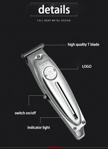 KEMEI 1949 المهنية قص الشعر كل معدن رجال كهربائية لاسلكية المتقلب كليبرز إنهاء قص شعر آلة KEMEI 1949 deABL toptrimmer