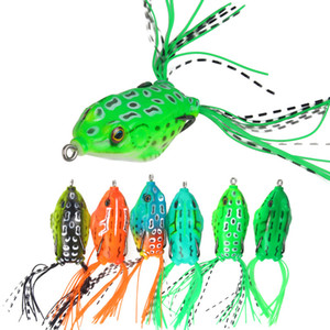 6pcs Lot 6cm 14g Frog Lure for Snakehead Bass Pike Bionic Fishing Lure Set Kit Soft Bait Topwater Fishing Lure