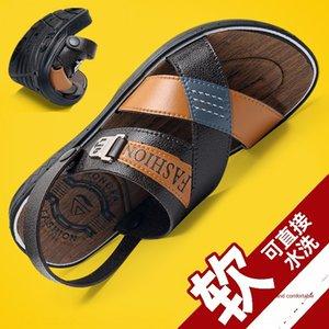estate uomo nuovo e sandali outdoor extra-grandi dimensioni sportive sandali a doppio uso per gli uomini di mezza età e anziani