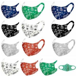 Moda Paisley 3d maschera riutilizzabile lavabile Mask PM2.5 Viso Shield Traspirante ghiaccio in seta stampata progettista del partito del fronte maschere RRA3395
