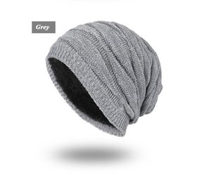 knitted hat Winter Beanies for Men Solid Color Hat Man Plain Warm Soft Skull Knitting Cap Touca Gorro Hats Vogue Knit Beanie GB1652