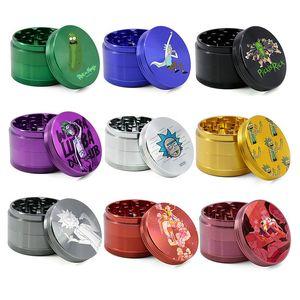 Herb grinder cartoon grinders aluminum alloy 4layers 40 50 55 63mm metal grinder smoking grinder tobacco grinders tobacco crusher glass jars