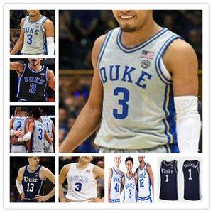 Individuelle 2020 New Duke Basketball genähten Jersey College-Joey Baker Rötlich Tatum JJ Redick Irving Barrett Tre Jones Trevon Duval Vernon Pflege