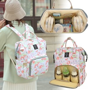 hevkn 2020 new cartoon mommy bag large capacity portable fashion portable maternal and child diapers multi-functional Diaper diaper baby bag