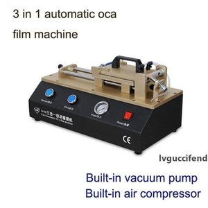 3 in 1 Automatic LCD Touch Screen OCA Laminator Polarizer Film Laminating Machine Built in Vacuum Pump for iPhone Samsung Max 5.5inch