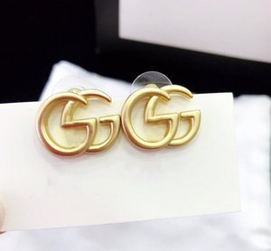 Fog Gold Electroplating Craft Studs Top Design 925 Sterling Silver Pin Earrings for Woman Earrings Fashion stainless steel jewelry
