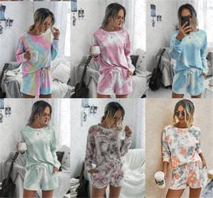 14 цветов балахон и шорты Комплект моды Elegent костюмы для женщин дамы с длинным рукавом пуловер 2 шт Outfit Мода Повседневная ткань D71407