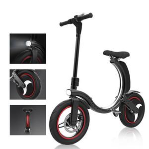Fat Tire Folding Electric Bike 450W Fashion Adult Foldable Electric Bicycle 14inch Two Wheel Mountain E Bike 30Km h Speed