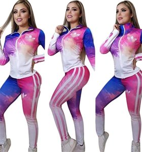 Women designer two piece set Jogging suit Zipper Hoodies Legging Tights Spring Fall Casual Sportswear outwear Jackets+ pants 3486