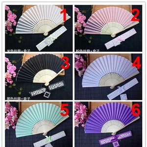 European Style Ursprünglichkeit Fan Geschenk High Grade Silk Folding Fans mit Drucken Hochzeit Bevorzugungen für die Gäste 3 5SZ ff