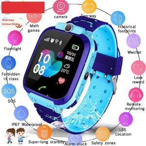 Waterproof Kids Smart Watch SOS Antil-lost Smartwatch Baby 2G SIM Card Clock Call Location Tracker Smartwatch PK Q50 Q90 Q528.