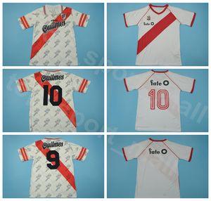 1986 1996 Vintage-Fußball River Plate Retro Jersey Männer Caniggia Francescoli Farbe Team White atmungsaktiv Fußballtrikot Kits Uniform