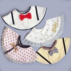 ins infant pure cotton children's bib baby saliva towel newborn dining Towel napkin napkin bib can rotate 360 degrees