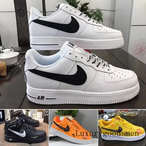 Stock Running One 1 Dunk MID 07 Men Women Flyline Running Shoes Sports Skateboarding High Low 1 All White All Black Trainers Sneaker B2L6U