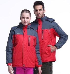 Nova camisola com capuz Homens Mulheres Moda Jacket espessamento Outono Inverno Esportes Windrunner Brasão Zipper Windcheater Red Plus Size 9XL