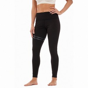 das mulheres Striped Elastic impressa offset Yoga Pants Leggings FmFX #