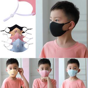 3D Моющиеся Дети Роты маски Регулируемые многоразовые Дети Маски РМ2,5 дышащего лицо Респиратора Ткань Cutton против пыли Защитной маски