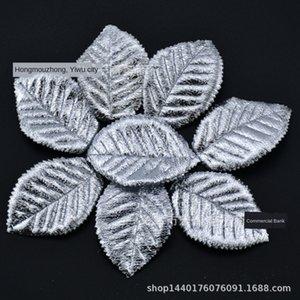 Imitación guirnalda de accesorios decorativos de plata dorada hoja hoja de imitación de la cinta de flores accesorios de plata del oro de la cinta de la cinta