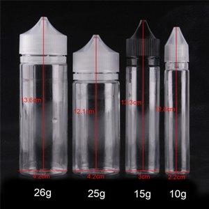 Unicorn bouteille vide 30ml PE Bouteilles E liquide Dropper plastique vide Forme Pen Bouteille E-liquide avec preuve à long Enfant Caps huile DHL