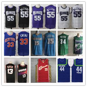 Los hombres de alta calidad barato Baloncesto Jersey James Williams 23 55 41 Nowitzki Ewing 33 Allen Anthony 34 15 13 Nash deportes al aire libre Jersey