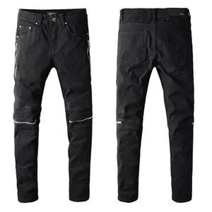 2020 bon marché hommes jeans déchirés motard jeans motards slim fit pour jeans de créateur de mode pour hommes hommes de hip-hop de bonne qualité - 02