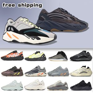2020 Karbon Mavi 700 v2 Dalga Runner Kanye West Erkek Koşu Ayakkabı Vanta 3M Atalet Statik Tephra Utility Siyah Sneaker