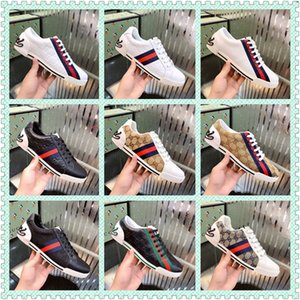 Hot mens womens Designer Tennis 1977 Sneaker with Web Green and Red in cotton Luxury Fashion Casual Trainer designer shoes for men 38-44