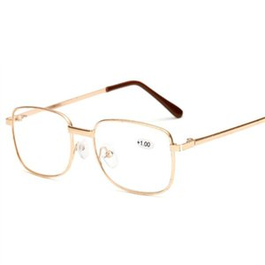 Mens Reading Glasses Women Presbyopic Glasses Elderly Metal Frame Hyperopia Diopter 1.0 1.5 2.0 2.5 Prescription Eyelasses