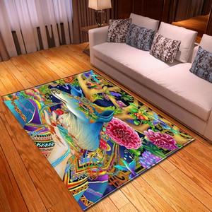 2020 Multicolour 3D cervo Tamanho Grande Tapete bonito da sala dos miúdos Jogo Crawl Mat criança Quarto jogo Tapete de Chão Custom Home Decor Tapetes