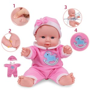 12 inches Reborn Dolls For Fashion Baby Girls Dressed Fashion Clothes Full Silicone Simulation Toys For Kids Birthday Gift T200712