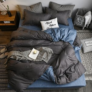 2020 summer bedding set green duvet cover bed set geometric flat sheet reindeer bedclothes 4pcs bed linenset Nordic home textile