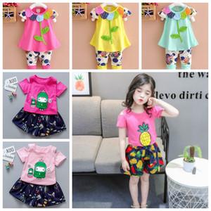 Baby Girl Одежда Набор цветов Вышитые Девочки Топы Шорты 2pcs Комплекты хлопка Эпикировка Лето Детская одежда 12 Designs DHW3949