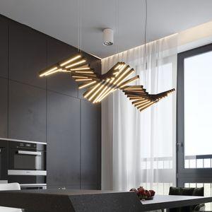 Creativa moderna Fish-bone Chandelier casa dinging camera lampada a sospensione soggiorno sala da pranzo soffitto Infissi PA0086