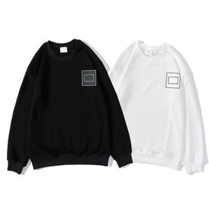 Nuovo stile casual O-Collo di stile degli uomini caldo con cappuccio di Hip Hop con cappuccio Pullover alta Streetwear Abbigliamento Uomo Nero Bianco