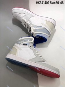 2020 xshfbcl Wholesale 1 High Athletic progettista Shoes high quality White Racer Blue White Fashion Chaussures Trainers Basketball Shoes