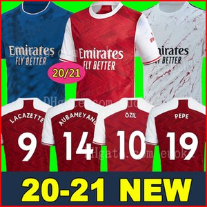 Arsenal soccer jersey football shirt camiseta de fútbol 20 21 PEPE AUBAMEYANG LACAZETTE 2020 2021 Camiseta Xhaka Özil kit chandal de fútbol uniformes tercera de la