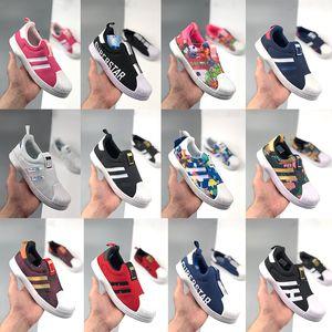 Infantili Originals Superstar 360 Pattini delle ragazze ragazzi bambino bambini Le scarpe più celebri Casual Red sport bianco nero Scarpe