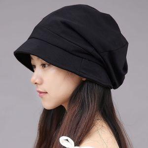 Beckyruiwu Kadın İlkbahar ve Sonbahar Moda Şapka Lady Cloche Şapkalar Kadınlar Katı Bere Şapka Bay Büyük Boyut Newsboy Caps 55-60cm