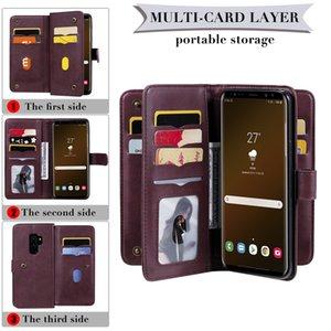 Роскошный телефон чехол для Samsung Galaxy S9 S10 S20 S10 Plus E Примечание 10 20 Pro A71 A51 A91 A70 Кожаный Бумажник Магнитный двухслойный охватывают случаи