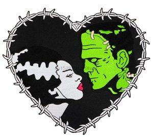 Authentique Monstres Universal Frankenstein Bride de coeur de fer sur le dos Patch New Impression Apparel T-shirt