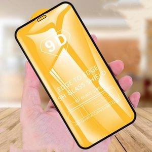 Pantalla de película de la cubierta 9D completa Pegamento de cristal templado de borde curvado Protector para Huawei P40 P30 Lite E mate 30 20 P inteligente S Y5P Y6P Y7P Y8P
