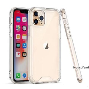 2020 Clear Acrylic Hard PC Soft TPU Phone Case Transparent Shockproof back Cover for iPhone 11 Pro Max X XR XS MAX 7 8 6 Plus
