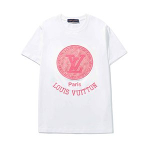 Wholesale Hot 19SS NEW Designer Cotton Tee New Sale Printed T Shirt Mens Hip Hop Cotton Tee Shirts 20 Color High Quality