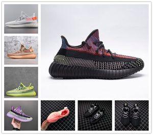 Scarpe Yecheil Yeshaya Verde statico 3M Reflective Kanye West V2 Sport Citrin Cloud White Synth fanale posteriore zebra delle donne degli uomini 2.0 Trainer Shoes