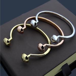 Two round nail open Bracelet women's foreign trade style open Bracelet