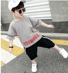 2020 HOT SELL fashion classic Style Childrens For Boys And Girls 2-7 years classic Sports Suit Baby Infant Short Sleeve Clothe