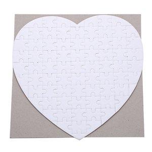 Kalp Şeklinde Kağıt Sublime Blank Sarf Malzeme Jigsaw Baskı Fotoğraf Bulmaca Isı Transferi Oyuncak İçin Çocuk Çocuk 2 3xm C2 Smooth