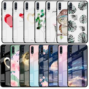 Fall für Huawei P20 Lite P30 Pro Muster gehärtetes Glas rückseitige Abdeckung für Huawei Mate-20 Lite 20 Pro Ehren 8X 10 Capa