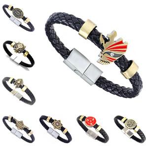 DHL epacket Original Bleach Naruto alloy textile magnet buckle bracelet wholesale DJFB381 ID, Identification jewelry bracelets